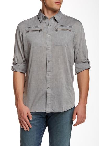 Imbracaminte Barbati Star USA By John Varvatos Long Sleeve Slim Fit Shirt SILVER