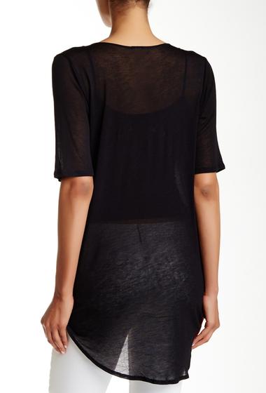 Imbracaminte Femei Free Press Short Sleeve Knit Wrap Tee BLACK