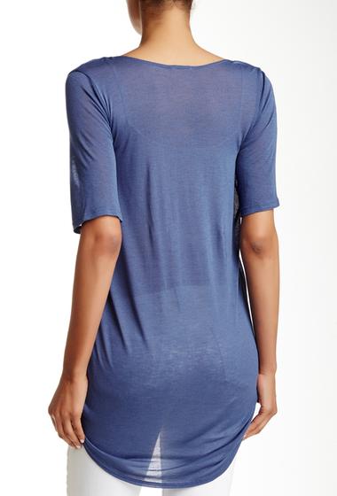 Imbracaminte Femei Free Press Short Sleeve Knit Wrap Tee BLUE CLEMATIS