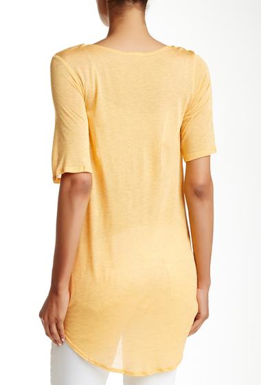 Imbracaminte Femei Free Press Short Sleeve Knit Wrap Tee YELLOW MIMOSA