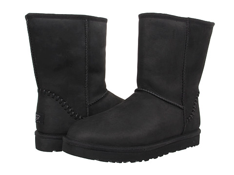 Incaltaminte Barbati UGG Classic Short Deco Black Leather