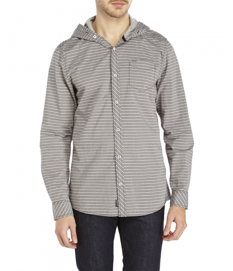 Imbracaminte Barbati Buffalo David Bitton Salsen Stripe Woven Hooded Shirt Cannon Stripe