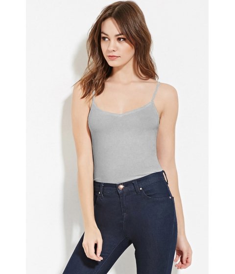 Imbracaminte Femei Forever21 V-Neck Cami Light heather grey