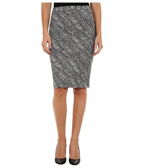 Imbracaminte Femei Calvin Klein Notch Bottom Jacquard Skirt BlackWhite