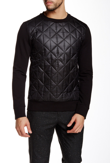Imbracaminte Barbati Antony Morato Long Sleeve Quilted Body Pullover Sweatshirt BLACK