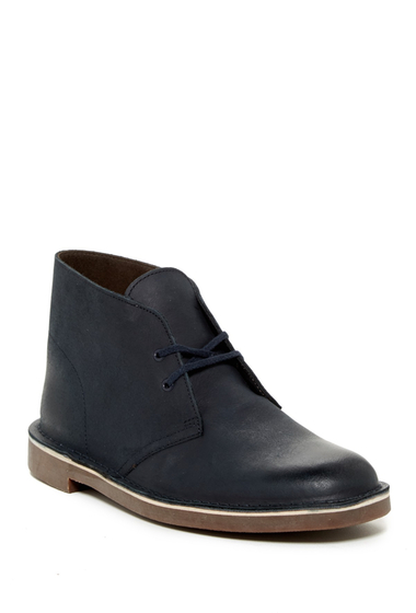 Incaltaminte Barbati Clarks Bushacre 2 Chukka Boot NAVY LEATH