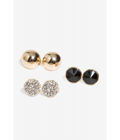 Bijuterii Femei CheapChic Trisha Mixed Circle Earring Set Black