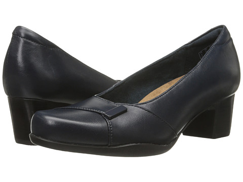 Incaltaminte Femei Clarks Rosalyn Belle Navy Leather