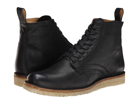 Incaltaminte Barbati Frye Phillip Crepe Lace Up Black Buffalo Nubuck