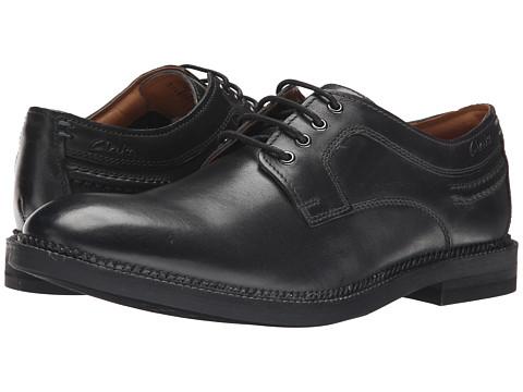 Incaltaminte Barbati Clarks Bushwick Dale Black Leather