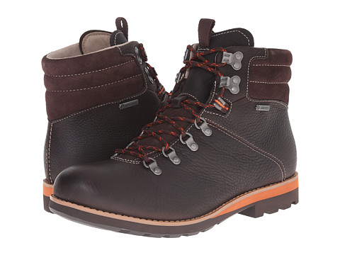 Incaltaminte Barbati Clarks Padley Alp GTXreg Dark Brown Leather