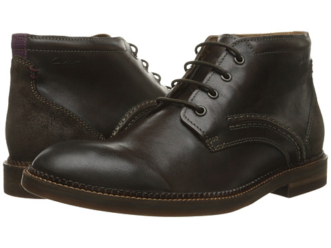 Incaltaminte Barbati Clarks Bushwick Mid Dark Brown Leather