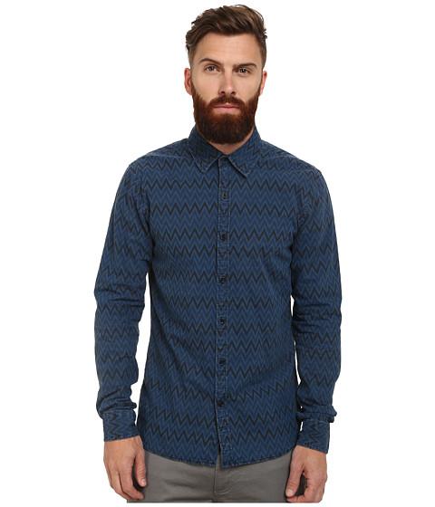Imbracaminte Barbati Scotch Soda Radio Blauw Allover Printed Shirt Indigo