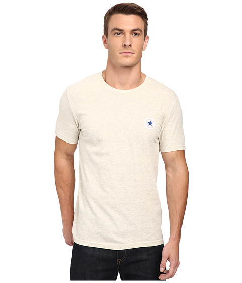 Imbracaminte Barbati Converse Core Left Chest Core Patch Short Sleeve Crew Oatmeal Heather