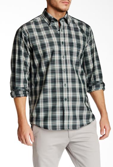 Imbracaminte Barbati Pendleton Long Sleeve Sir Pen Regular Fit Wool Shirt GREEN