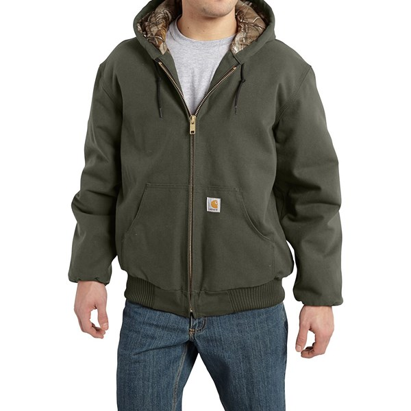Imbracaminte Barbati Carhartt Huntsman Active Jacket - Insulated and Flannel Lined MOSS (05)