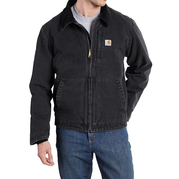 Imbracaminte Barbati Carhartt Full Swing Sandstone Jacket - Fleece Lined (For Big and Tall Men) BLACK (01)