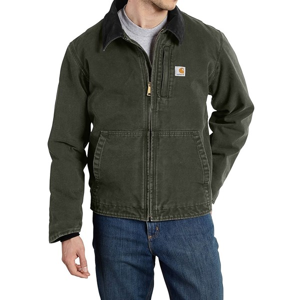 Imbracaminte Barbati Carhartt Full Swing Sandstone Jacket - Fleece Lined (For Big and Tall Men) MOSS (02)