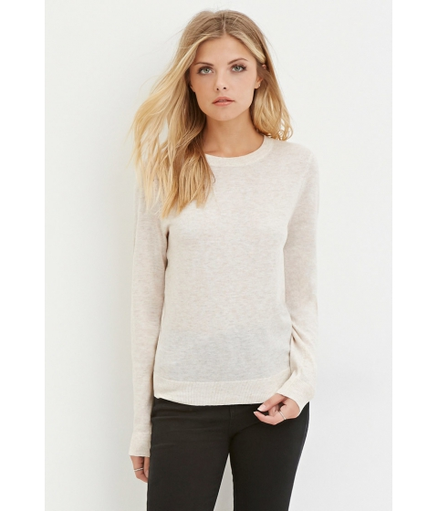Imbracaminte Femei Forever21 Contemporary Classic Heathered Sweater Oatmeal
