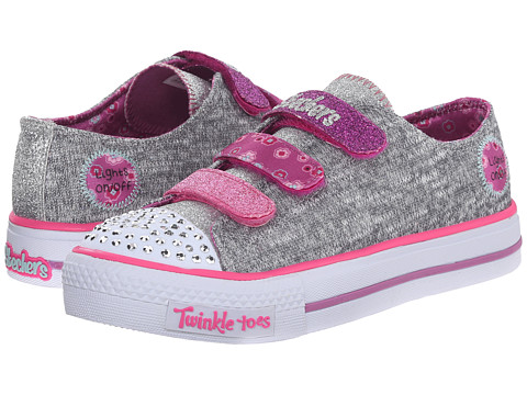 Incaltaminte Fete SKECHERS Shuffles 10512L Lights (Little KidBig Kid) GreyMulti