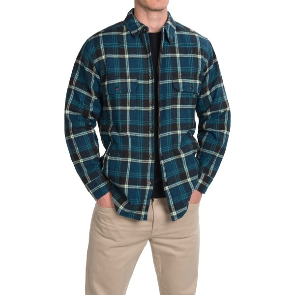 Imbracaminte Barbati Woolrich Oxbow Bend Plaid Flannel Shirt Jacket - Snap Front NORDIC BLUE (02)