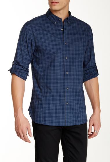 Imbracaminte Barbati Star USA By John Varvatos Plaid Roll Tab Trim Fit Shirt LAKE BLUE
