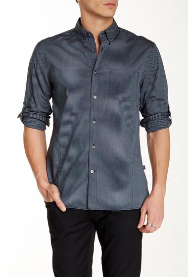Imbracaminte Barbati Star USA By John Varvatos Gingham Long Sleeve Trim Fit Shirt TEAL