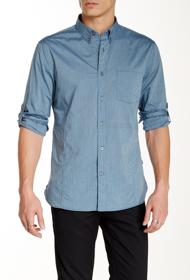 Imbracaminte Barbati Star USA By John Varvatos Pinstripe Sport Trim Fit Shirt BLUE STONE