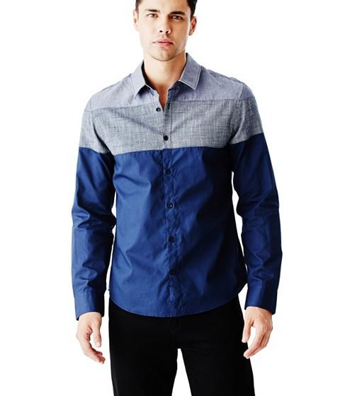 Imbracaminte Barbati GUESS Ezer Chambray Shirt midnight blue