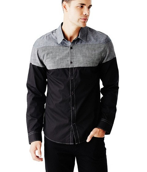 Imbracaminte Barbati GUESS Ezer Chambray Shirt jet black