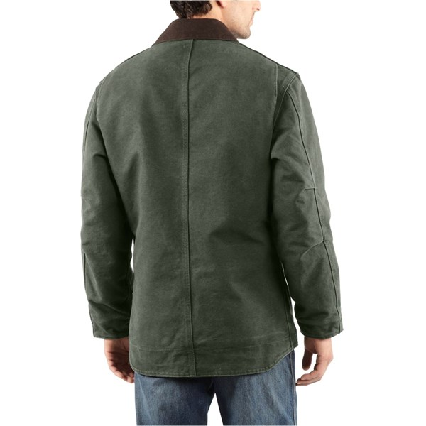 Imbracaminte Barbati Carhartt Sandstone Ridge Coat (For Big Men) DARK BROWN (03)
