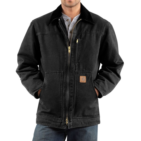 Imbracaminte Barbati Carhartt Sandstone Ridge Coat (For Big Men) BLACK (02)