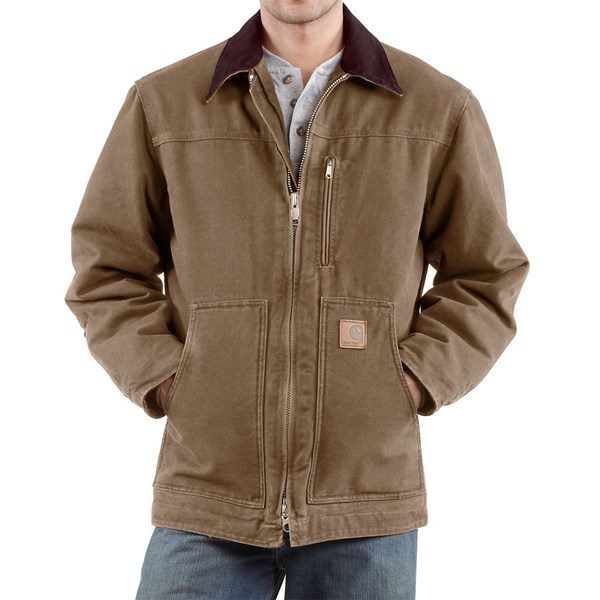 Imbracaminte Barbati Carhartt Sandstone Ridge Coat (For Big Men) FRONTIER BROWN (04)