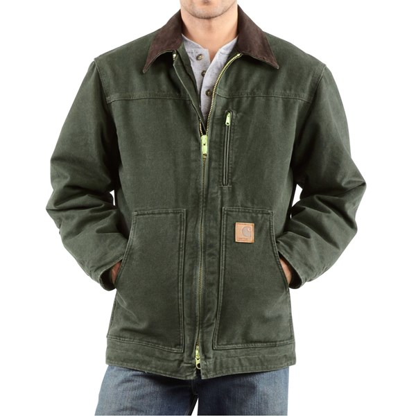 Imbracaminte Barbati Carhartt Sandstone Ridge Coat (For Big Men) MOSS (05)
