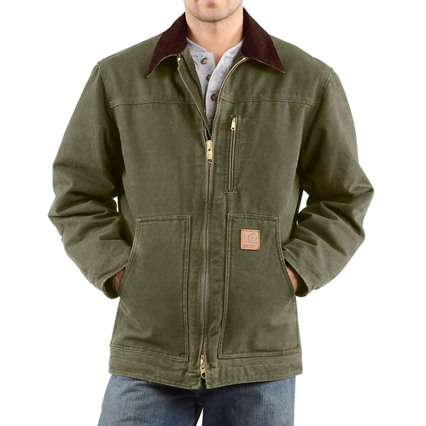Imbracaminte Barbati Carhartt Sandstone Ridge Coat (For Big Men) ARMY GREEN (01)