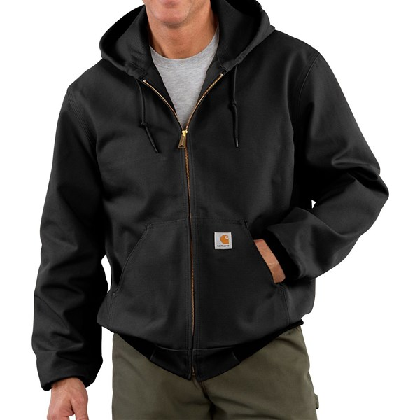 Imbracaminte Barbati Carhartt Thermal-Lined Active Duck Jacket (For Big Men) BLACK (01)