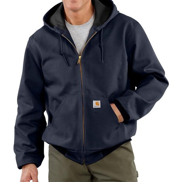 Imbracaminte Barbati Carhartt Thermal-Lined Active Duck Jacket (For Big Men) DARK NAVY (03)