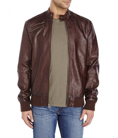 Imbracaminte Barbati Buffalo David Bitton Faux Leather Jacket Dark Brown
