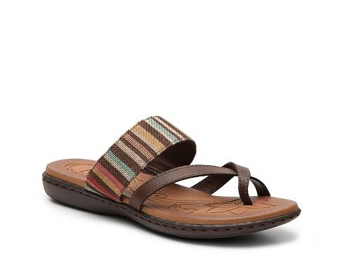 Incaltaminte Femei boc Gould Flat Sandal Brown Multi
