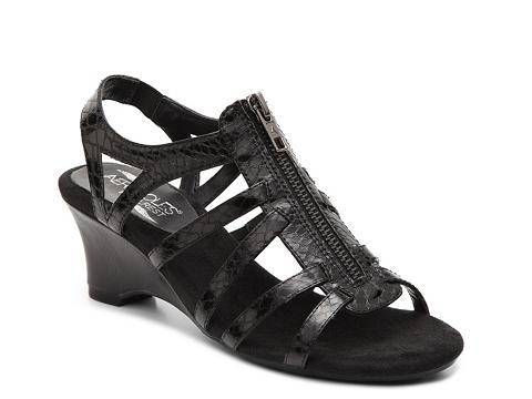 Incaltaminte Femei Aerosoles Zenvelope Wedge Sandal Black