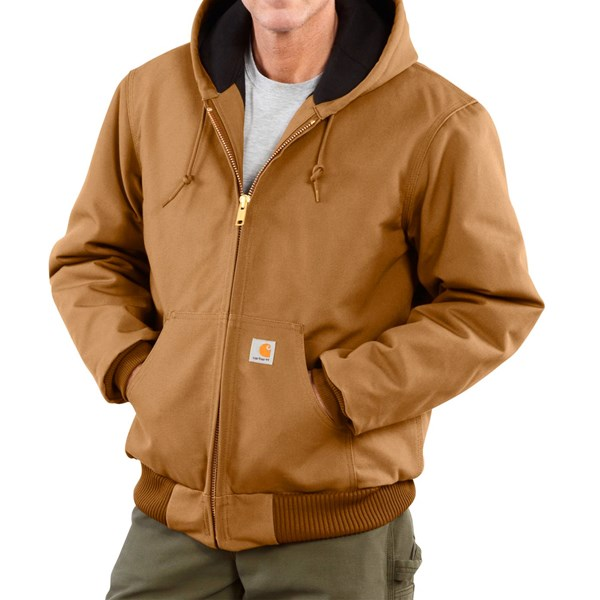 Imbracaminte Barbati Carhartt Active Duck Jacket - Insulated (For Big Men) CARHARTT BROWN (03)