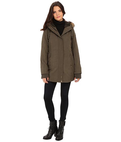 Imbracaminte Femei DKNY Hooded Faux Fur Hi-Lo Fitted Parka 82503-Y5 Loden