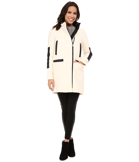 Imbracaminte Femei Vince Camuto Stand Collar Wool J8271 Ivory