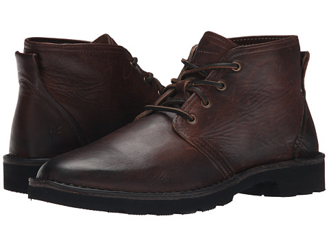 Incaltaminte Barbati Frye Holden Chukka Dark Brown Oiled Vintage