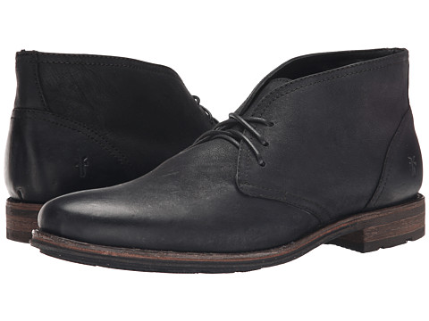 Incaltaminte Barbati Frye Oscar Chukka Black Textured Full Grain