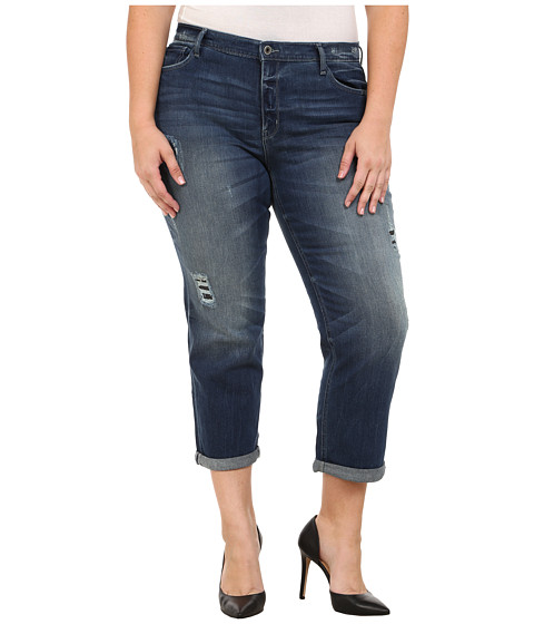 Imbracaminte Femei DKNY Plus Size Rip and Repair Bowery Boyfriend Jeans in Oasis Wash Oasis Wash