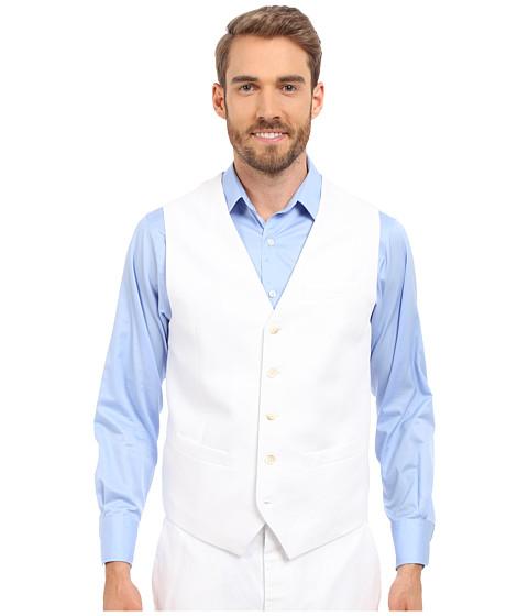 Imbracaminte Barbati Perry Ellis Linen Suit Vest Bright White 1