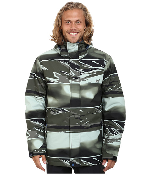 Imbracaminte Barbati Quiksilver Mission Printed Snow Jacket Dusty Olive