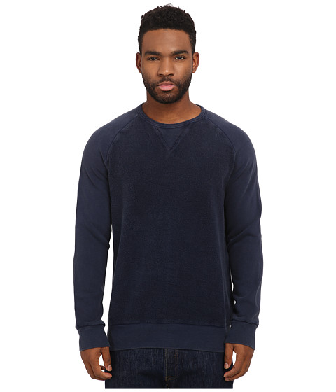 Imbracaminte Barbati French Connection Peached Garment Dye Sweater Marine Blue