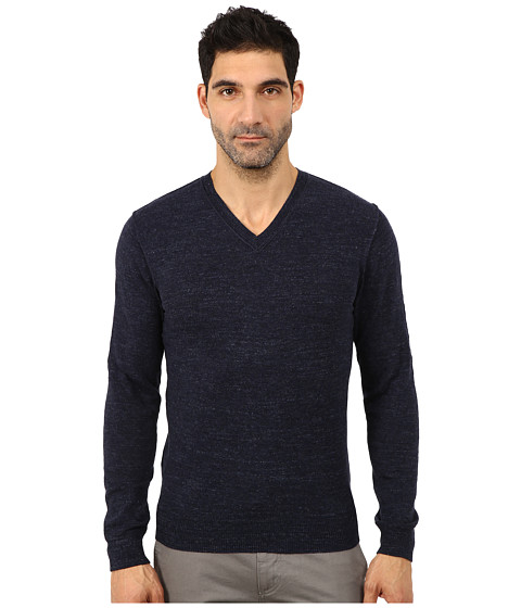 Imbracaminte Barbati Lucky Brand White Label V-Neck Sweater Navy